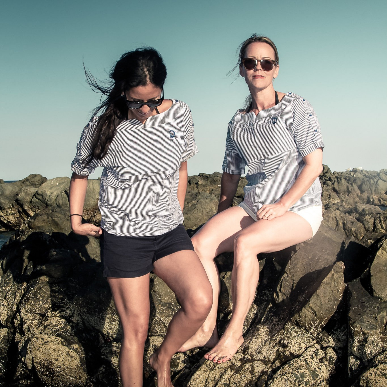 båtbluse - navy blouse